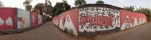 Sambut HUT RI ke-73 warga kampung payangan menghiasi dengan lukisan