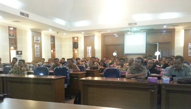 Para peserta dari perwakilan BPBD Kabupaten/Kota