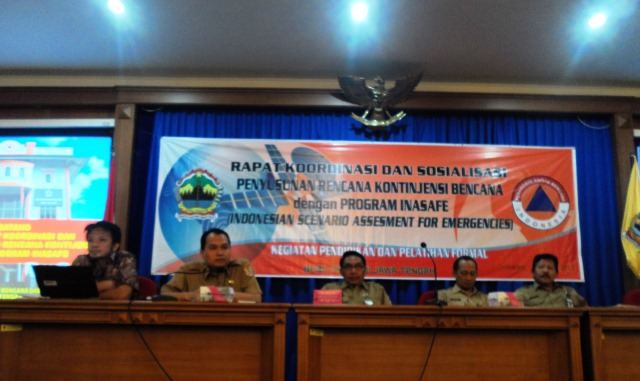 Opening remarks from Temmy Purboyono, BPBD Central Java