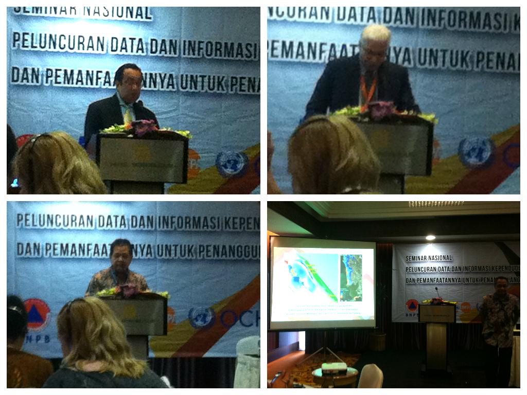 Opening speech (From top left, clockwise : Jose Ferraris, Rajan Gengaje, Fatchul Hadi, Razali Ritonga)