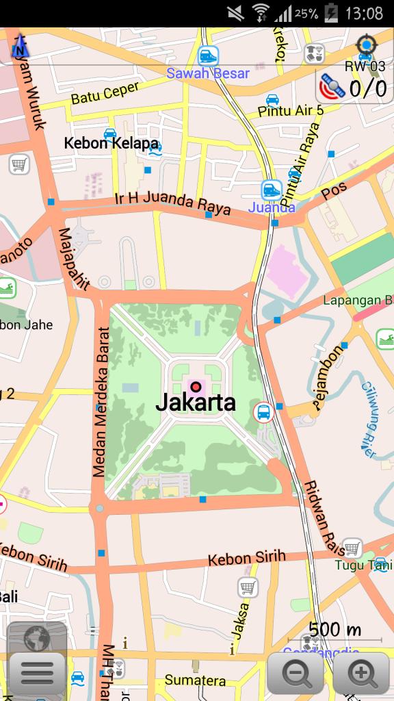 Tampilan Utama dari Peta