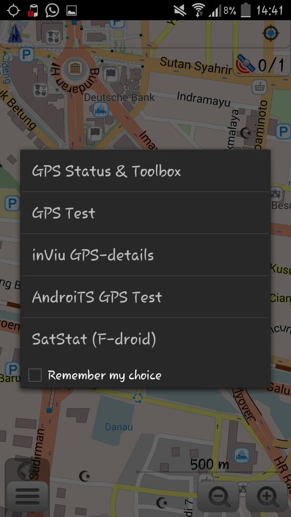 Tampilan GPS Status