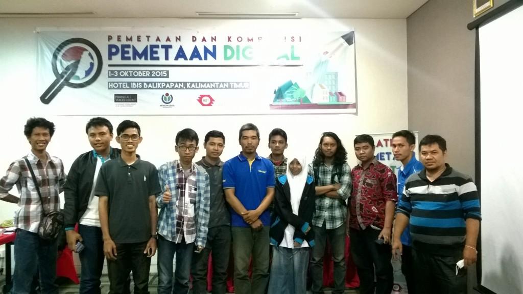 Foto bersama para peserta pelatihan OSM Balikpapan