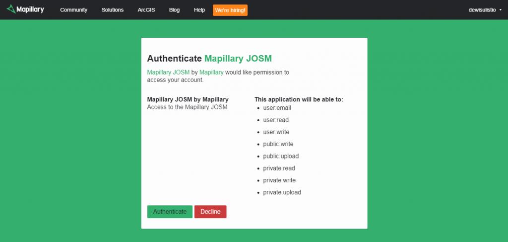 Access to Mapillary